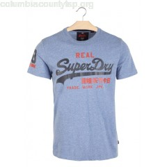 New collection SCREEN-PRINTED SLIM-FIT T-SHIRT WITH ROUND NECK BLISS BLUE SNOWY SUPERDRY MEN 0nIIjs6v