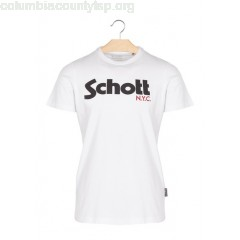 New collection SHORT-SLEEVED SLIM-FIT COTTON T-SHIRT WITH LOGO WHITE SCHOTT MEN YtqHmfBv