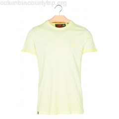 New collection SHORT-SLEEVED SLIM-FIT T-SHIRT FLURO YELLOW SUPERDRY MEN vB8KD44c