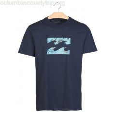 New collection SHORT-SLEEVED T-SHIRT WITH SCREEN PRINT NAVY BILLABONG MEN qNm9bawI