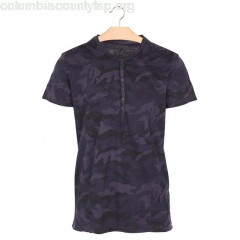 New collection SLIM COTTON T-SHIRT WITH HENLEY COLLAR AND CAMOUFLAGE PRINT NAVY BEST MOUNTAIN MEN WWwHBDuN