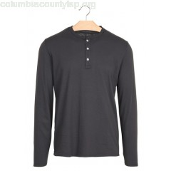 New collection SLIM COTTON T-SHIRT WITH HENLEY COLLAR CARBONE HARTFORD MEN kCTArMYC