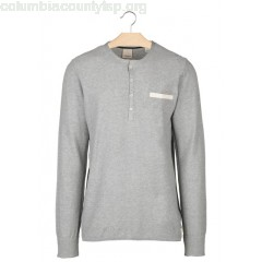 New collection SLIM-FIT COTTON PIQUÉ T-SHIRT WITH LONG SLEEVES 98-GREY MELANGE SCOTCH AND SODA MEN naXEiSeu