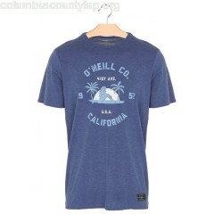 New collection SLIM-FIT ORGANIC JERSEY T-SHIRT WITH SCREEN PRINT ATLANTIC BLUE O NEILL MEN G8tLz6Su