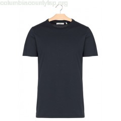 New collection SLIM-FIT ROUND-NECK COTTON T-SHIRT DARK NAVY MINIMUM MEN DT5SvlZP