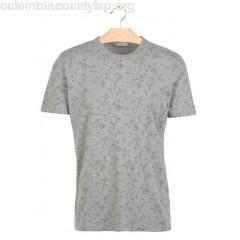 New collection SLIM-FIT ROUND-NECK PRINTED COTTON T-SHIRT MEDIUM GREY MELANGE SELECTED MEN zgJfnfYG
