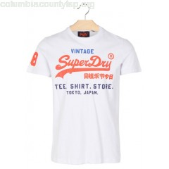 New collection SLIM-FIT ROUND-NECK T-SHIRT WITH SCREEN PRINT OPTIC SUPERDRY MEN 6Qeeq6Iy