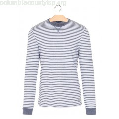 New collection STRIPED ROUND-NECK T-SHIRT OCEAN NIGHT BLUE TOM TAILOR MEN RPF2Nmin