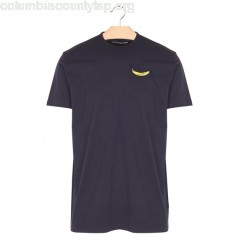 New collection T-SHIRT WITH BANANA PATCH NAVY LOREAK MEN wzgwkiH0