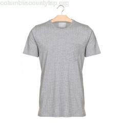New collection TREVOR SLIM-CUT SPOT T-SHIRT LIGHT GREY MELANGE MINIMUM MEN 2Ftwcgfi