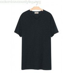 New collection V-NECK COTTON T-SHIRT CAVIAR AMERICAN VINTAGE MEN yatFRYWA