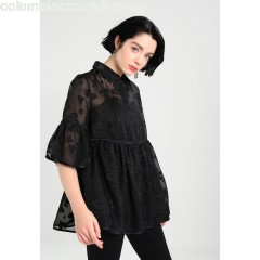 Lost Ink SHEER HEART SMOCK Blouse black 845eT2GT