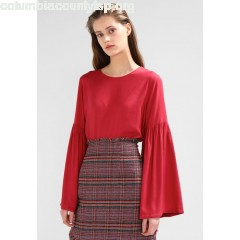 NA-KD BALLOON SLEEVE BLOUSE Blouse dusty red 1xht257N