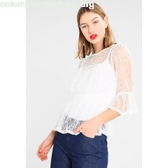 New Look DELICATE SHIRRED WAIST FLUTE Blouse cream 0ICfUkCu
