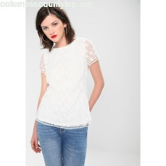 Oasis POM POM TEE Blouse offwhite 6m3eH84a