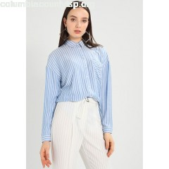 ONLY ONLBLUFF STRIPE Women's Shirt white/blue sa7GgH4L