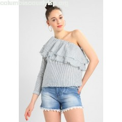 ONLY ONLKYLEE RAW ONE SHOULDER STRIPE Blouse blue denim sYNNNLqk