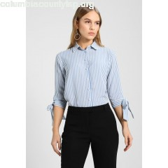 Second Script Petite TIE CUFF Women's Shirt blue CIKcewOa