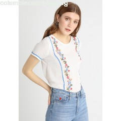 TOM TAILOR DENIM MIX EMBRO Blouse off white hVwYR8wn
