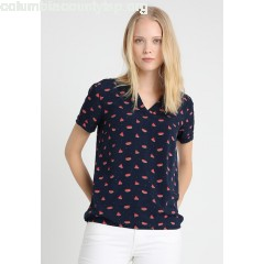 TOM TAILOR SUMMERLY FRUIT PRINT BLOUSE Blouse real navy blue Cfsk0YgB