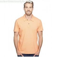 Agave Denim Short Sleeve Polo Italian Pique in Orange Tc0PWrPl