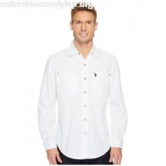U.S. POLO ASSN. Long Sleeve Dobby Sport Shirt tXGUq01z