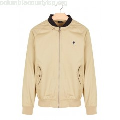 New collection CANVAS ZIPPED JACKET SAND FAGUO MEN 4bNY55kF
