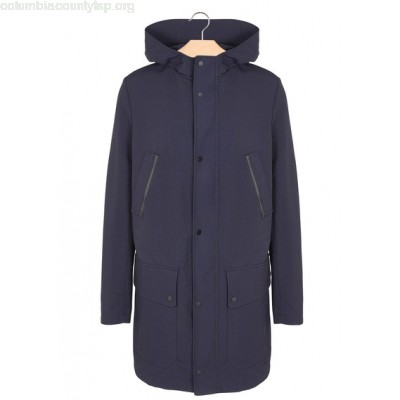 New collection HIGH-NECK PARKA WITH HOOD MARINE ONE STEP MEN yGaaWe0V