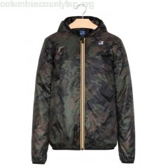 New collection HOODED PACK-AWAY WINDBREAKER DARK CAMOUFLAGE K.WAY MEN N9tXQnvb