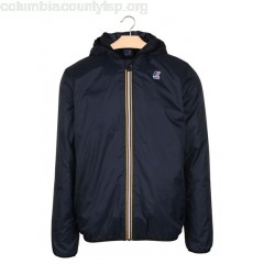 New collection LE VRAI 3.0 CLAUDE WARM PADDED JACKET WITH HOOD DEPHT BLUE K.WAY MEN rVupFDxT