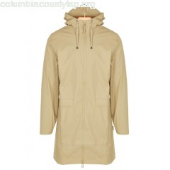 New collection LONG HOODED WATERPROOF JACKET DESERT RAINS MEN mrQTj9JQ