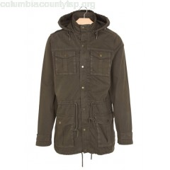New collection MULTI-POCKET COTTON PARKA KAKI BEST MOUNTAIN MEN 4CbP13CQ