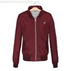 New collection NYLON JACKET WITH HOOD BORDEAUX SCHOTT MEN ChXBGoBr