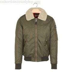 New collection PILOTE JACKET WITH SHEEPSKIN COLLAR KAKI SCHOTT MEN uQWiS53d