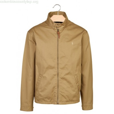 New collection REGULAR-FIT HIGH-NECK COTTON JACKET LUXURY TAN POLO RALPH LAUREN MEN zsUuLUk8