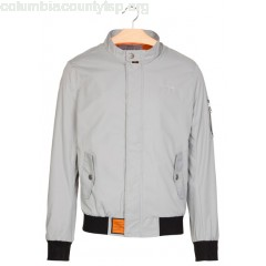 New collection REGULAR-FIT HIGH-NECK JACKET GREY BOMBERS ORIGINAL MEN smV3PdLN