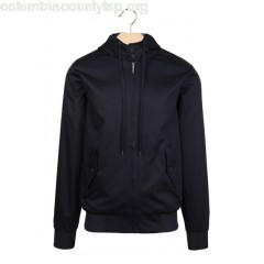 New collection REGULAR-FIT HOODED JACKET WITH HIGH NECK MARINE HARRINGTON MEN cAxDEkLJ