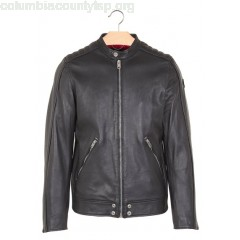 New collection ROUND-NECK ZIP-UP LEATHER JACKET 001 BLACK DIESEL MEN rpZ7rUQh
