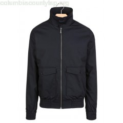 New collection SLIM-FIT COTTON JACKET NAVY HARRINGTON MEN zFa8nDNz