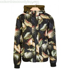 New collection TROPICAL-PRINT WINDBREAKER WITH HOOD GREY SCOTCH AND SODA MEN zx3o9Te8