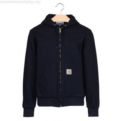 New collection ZIP-UP COTTON CANVAS JACKET WITH HOOD 1C02-DARK NAVY CARHARTT WIP MEN AZfb4S0g