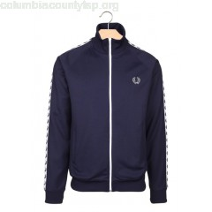 New collection ZIP-UP OVER-JACKET CARBON BLUE FRED PERRY MEN uRi1xD2Z