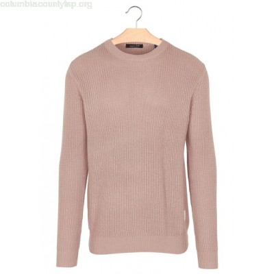New collection COTTON AND LINEN REGULAR-FIT ROUND-NECK SWEATER OLD PINK SCOTCH AND SODA MEN Wnf0wQMm