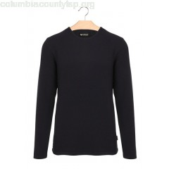 New collection COTTON ROUND-NECK SWEATER DARK NAVY MINIMUM MEN gYejZiNe