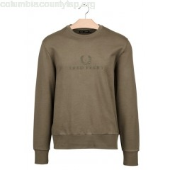 New collection COTTON SWEATSHIRT WITH EMBROIDERED LOGO IRIS LEAF FRED PERRY MEN Q3aOSky1