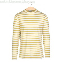 New collection FINE STRIPED COTTON SWEATSHIRT YOLK YELLOW MINIMUM MEN xz52J3WW