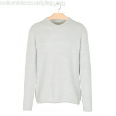 New collection MOTTLED COTTON ROUND-NECK SWEATER AQUA GREY MEL MINIMUM MEN Xy77Z9yg