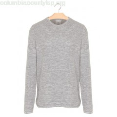 New collection MOTTLED COTTON ROUND-NECK SWEATER LIGHT GREY MELANGE MINIMUM MEN niABWFi2