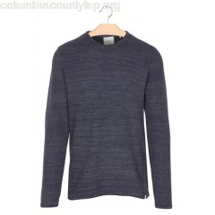 New collection MOTTLED COTTON ROUND-NECK SWEATER NAVY BLAZER MEL MINIMUM MEN zujyV8fW
