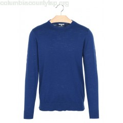 New collection MOTTLED-KNIT ROUND-NECK SWEATER NAVY HARTFORD MEN 7kLhalvt